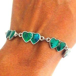 Compressed Turquoise Bracelet